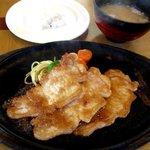 田中屋レストラン - 豚生姜焼定食!(2016,01/10)