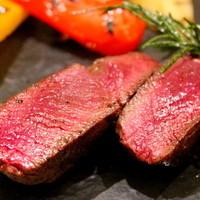 岩手県産の短角和牛のステーキ