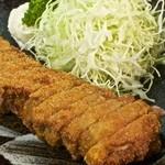 牛かつ 壱弐参 - 1400円『牛ロースかつ 130グラム麦めしとろろセット』2016年1月吉日