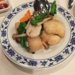 重慶飯店 - 白身魚と帆立の塩炒め(^∇^)