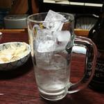 酒蔵新潟 - ホッピーセット+突き出し(ミミガー)