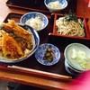 更科・そば&まぐろ - 料理写真:ランチ松1000円の天丼蕎麦セット