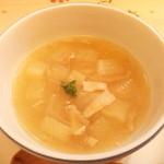 プリモぐりる - 大根と豚バラの生姜スープ