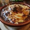 リバース カフェ - 料理写真:焼きチーズカレーにハンバーグをトッピング
