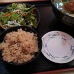 おきなわ亭 - ソーキそば定食800円