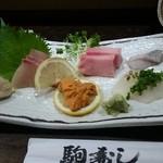 駒寿し - 料理写真:刺身の図