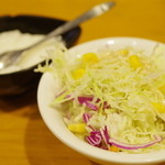 川菜館 - サラダ&デザート(杏仁豆腐)