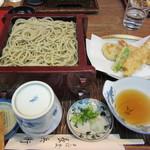 長兵衛 - 料理写真:天せいろ 2350円(天然車海老2本・野菜・せいろ2枚)