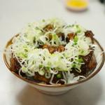 味処 叶 - 味噌カツ丼 ネギトッピング