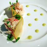 PATINASTELLA - ズワイ蟹と青りんご 根セロリのサラダ キャビアライムをのせて