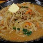 46539567 - 情熱の味噌ラーメン(太麺) 710円、濃厚バター60円