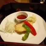 ほほえみの宿 滝の湯 - 料理写真:鱈唐揚げ 油淋ソース