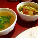 らくしゅみ - ○ダルカリー様(左からですね)○野菜カリー様