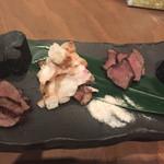 炉とマタギ - 北海道蝦夷鹿もも肉炉端焼き&ハンガリー産野兎もも肉炉端焼き
