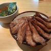 麺歩 バガボンド - 料理写真:炙りチャーシューつけ麺  あつ盛、大盛、チャーシュー増し
