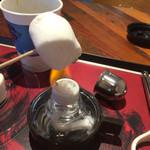 ロアーコーヒーハウス&ロースタリー - マシュマロを炙って食べる。口の中で溶けて旨い。