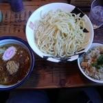 麺屋久兵衛  - つけ麺特盛(麺450g)+ガーリックバターライス