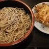 """草笛 - 料理写真:Aセット(もりそば+かき揚げ)。デフォルトで""""桶盛り"""""""