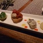 スパイラル - 牡蠣前菜5種 750円