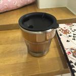 ネコカフェ キャットテイル - カフェオレ 蓋が出来る容器で提供してくれます