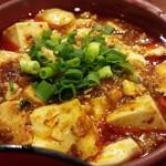 大明担担麺 - 麻婆&炒飯定食の麻婆豆腐☆☆ 駅ナカにしては、辛めの味付け、山椒も効いてなかなか○