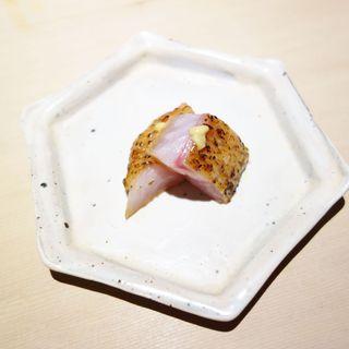 鮨 多門 - 料理写真:2015.05 藁で燻したノドグロ漬け