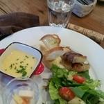 オリーブポットカフェ - 料理写真:ランチ前菜五種