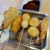 たけ屋 - 料理写真:串カツ(豚肉、牛肉、エビ、茄子、うずら)