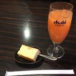 さんまちゃん - 得々ランチのデザートとドリンク(グレープフルーツジュース)