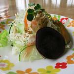 46822226 - 前菜の野菜サラダ ヘルシーで美味しい!