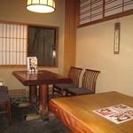 京都 権太呂 - 店内(テーブル席例)