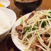 成龍萬寿山上海ラーメン - 料理写真:ニラレバ定食/2016年1月