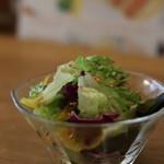 新世界グリル 梵 - ランチセットのサラダ