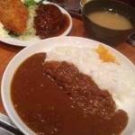 キッチン ジロー - 3品盛合せ(カレーライス、ハンバーグ、魚フライ)