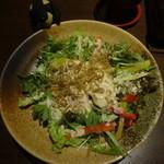 46896628 - 佐渡赤豆腐とジャコのサラダ