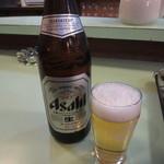 料理 萬口 - ビール中瓶 650円(2015.12)