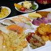 バイキング 網元 - 料理写真:寿司、刺身、天ぷら、エビチリ、からあげ、佐渡名物ブリカツ、パエリアなど
