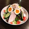 親子サラダ(卵と蒸し鶏のサラダ)