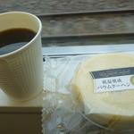 アップカフェ - モーニングブレンド、バウムクーヘン