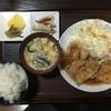 い志川 - 料理写真:生姜焼き定食全体