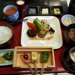 大山山麓自然薯 治之助 - 【2016年1月】京野菜グリルと田楽御膳  1000円