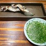 京都和久傳 - 焼物(鮎塩焼き)