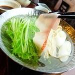 網元料理 徳造丸 - 金目鯛しゃぶしゃぶ1600円