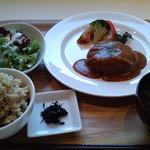 あじと cafe日びの - 料理写真:ベジバーグセット1120円