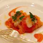 カノビアーノ - +800円で北海道産しま海老とカラスミの冷製カッペリーニにチェンジ ホント美味いです