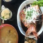 地魚干物食堂 藍ヶ江水産 - 料理写真:金目鯛の兜煮付