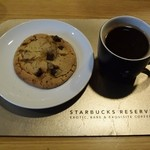 スターバックス・コーヒー - パナマカルメンエステートのプレス&チョコレートチャンククッキー