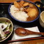 串かつ じゃんじゃん - 串かつ屋さんのカツカレー定食