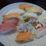 くろしお回転寿司 - くろしおランチセット700円(税別)
