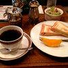 森珈琲店 - 料理写真:キンデン650円とモーニング100円のホットハムサンド